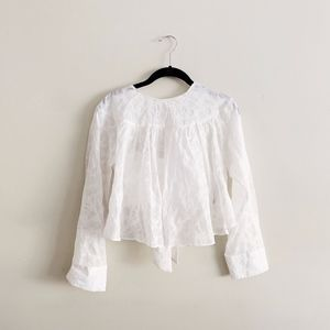 Zara Open Back White Blouse